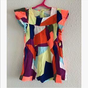 Crazy 8 multi color dress sz: 18-24mos. NWT